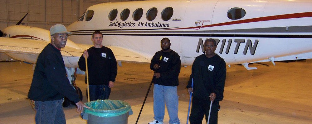 janitorial work at Martin State Airport