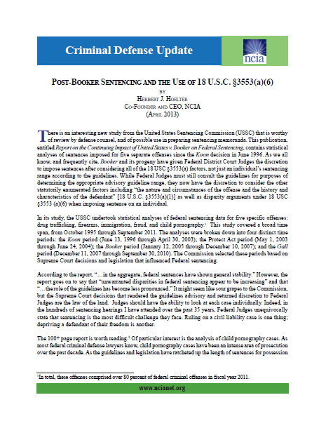 Criminal Defense Update April 2013