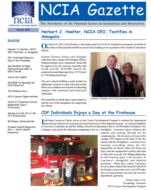march 2013 newsletter