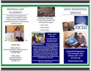 Adult Residential Program Brochure
