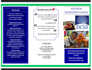 Youth in Transition School Brochure