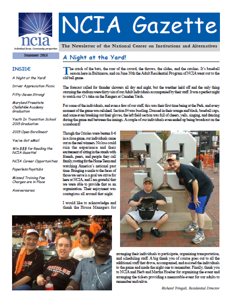 July 2015 newsletter